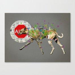 Perro callejero Canvas Print