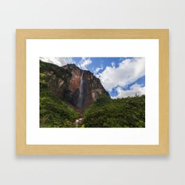 The Angel Falls - Venezuela Framed Art Print