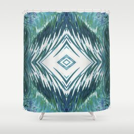 Surfer Waves Ocean Pattern Shower Curtain