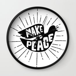 make peace Wall Clock