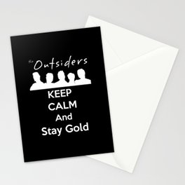 Keep Calm and Carry On : The Outsiders Stationery Cards