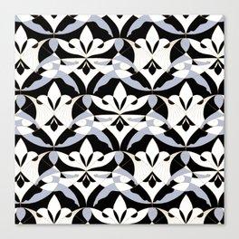 Interwoven XX - Black Canvas Print