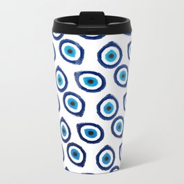 Evil Eye Teardrop Metal Travel Mug