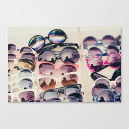 Sunglasses, Paris street market Canvas Print