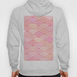 dragon fish scales simple pattern Nature background with japanese wave Hoody