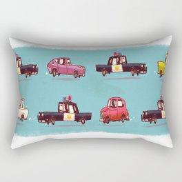 Car Chase Rectangular Pillow
