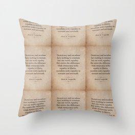 Alexis de Tocqueville Quote Throw Pillow