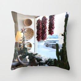 Christmastime Cacti Throw Pillow