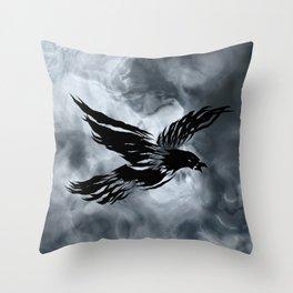 Turbulent Night Throw Pillow