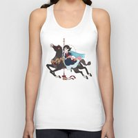 dark side of the moon Tank Tops featuring Carousel: The Dark Side of the Moon by Lettie Bug