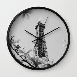 Eiffel Tower II Wall Clock