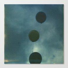 Dark Balloons Canvas Print