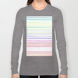RAINBOW WATERCOLOR LINES Long Sleeve T-shirt