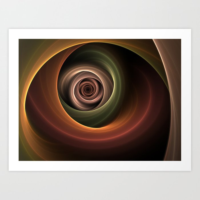 Fractal Depth And Warmth Art Print