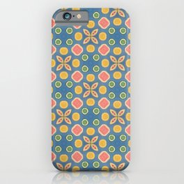 70s Citrus Print iPhone Case