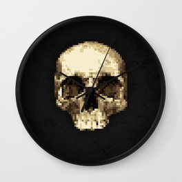 Pixel Skull Wall Clock