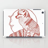 coasters iPad Cases featuring Forest Lover's Fox by KimberlyVautrin