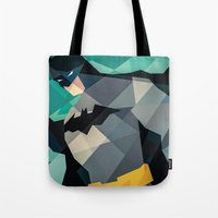 dc comics Tote Bags featuring DC Comics Superhero by Eric Dufresne