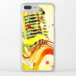 Jazz Microphone Poster Clear iPhone Case