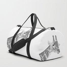 Giraffe Black & White Dream #1 #dreamy #decor #art #society6 Duffle Bag