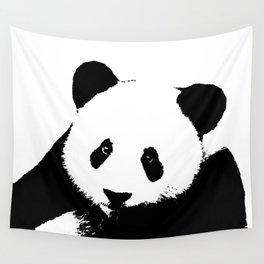 Giant Panda in Black & White Wall Tapestry
