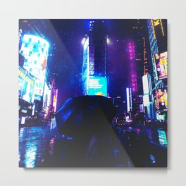 Cyberpunk Future World Metal Print