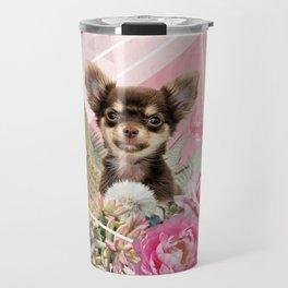 Eclectic Geometrical Chihuahua Travel Mug