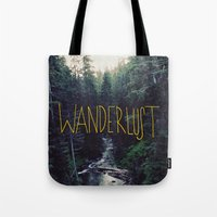 marina and the diamonds Tote Bags featuring Wanderlust: Rainier Creek by Leah Flores