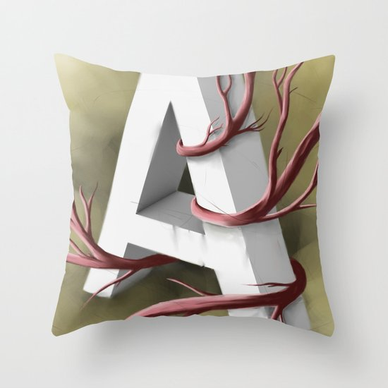 """A"" Throw Pillow"