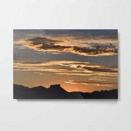 Golden Mesa Sunset Metal Print