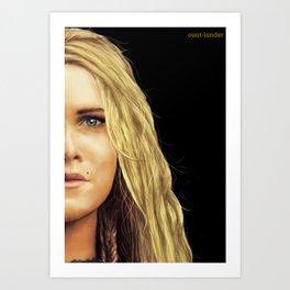 Clarke Griffin portrait Art Print