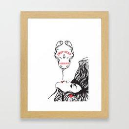 drop dead gorgeous Framed Art Print