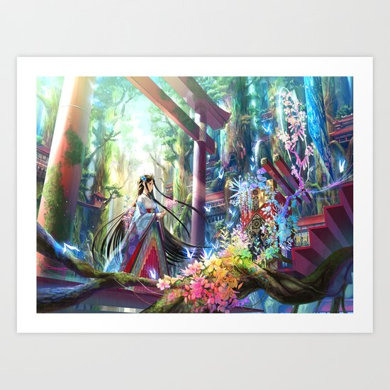 Rainbow Shrine Art Print