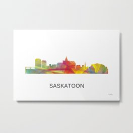 Saskatoon, Saskatchewan Canada Skyline WB1 Metal Print