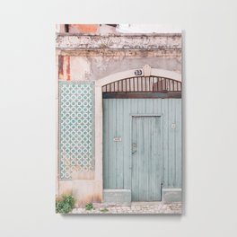 The mint door Metal Print