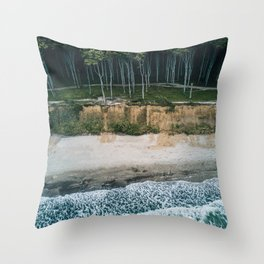 Waves, Woods, Wind and Water - Landscape Photography Throw Pillow