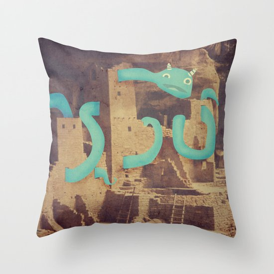 I Might Be Stuck Here  Throw Pillow