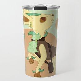 Leaf Steampunk Fox Travel Mug