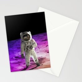 Astronaut Low Poly Stationery Cards