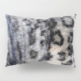 Snow Leopard Wild Cat Pattern Pillow Sham