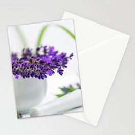Lavender still life for pharmacies or curative practitioners Stationery Cards