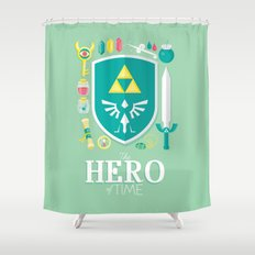 Hero of Time Shower Curtain