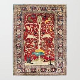 Silk Heriz Azerbaijan Northwest Persian Rug Print Poster