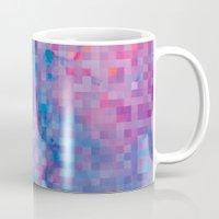 pixel Mugs featuring Pixel by Marta Olga Klara
