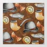 gentleman Canvas Prints featuring Gentleman by M. Noelle Studios