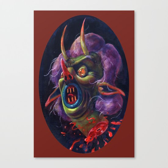 Witch Head Canvas Print