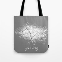 gaming Tote Bags featuring gaming by K_REY_C