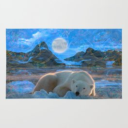 Just Chilling and Dreaming (Polar Bear) Rug