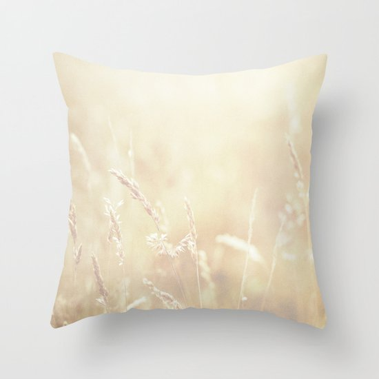 Lets make hay whilst the sun shines  Throw Pillow