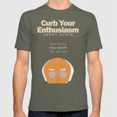 Curb Your Enthusiasm - Hbo tv Show with Larry David - Poster LARGE Mens Fitted Tee Lieutenant